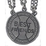 Silver Colored 3 Piece Friendship Charms with Chains