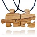 Wood Puzzle Piece Friendship Nec...