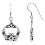 Sterling Silver Irish Friendship Earrings